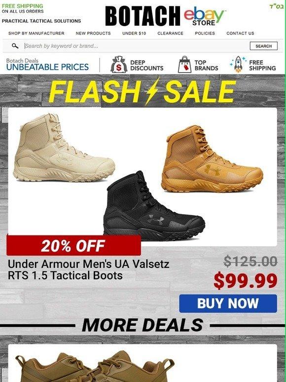 7fc0a0731b4 Botach Tactical: Flash Sale - Under Armour Valsetz RTS 1.5 Boots ...