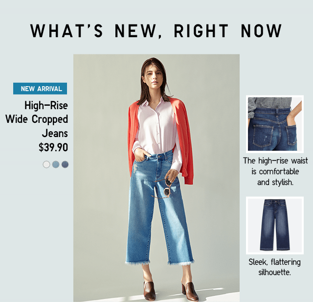 HIGH-RISE WIDE CROPPED JEANS $39.90
