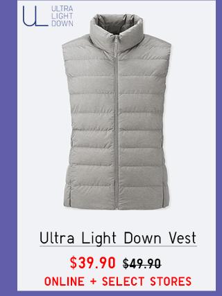 ULTRA LIGHT DOWN VEST $39.90