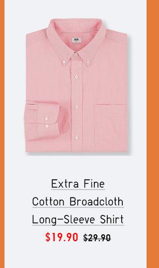 EXTRA FINE COTTON BROADCLOTH LONG-SLEEVE SHIRT $19.90