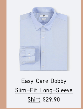 EASY CARE DOBBY SLIM-FIT LONG-SLEEVE SHIRT $29.90
