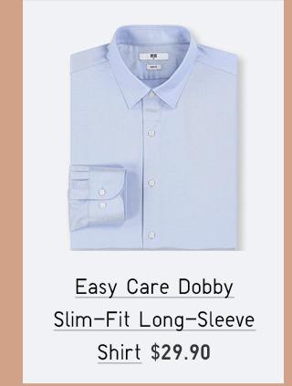 EASY CARE DOBBY SLIM-FIT LONG-SLEEVE SHIRT $29.90