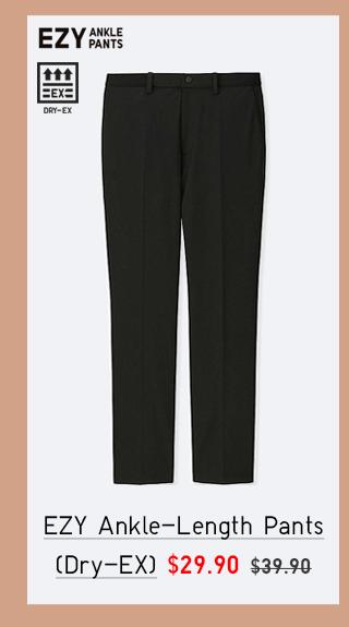 EZY ANKLE-LENGTH PANTS (DRY-EX) $29.90