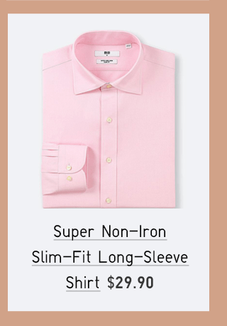 SUPER NON-IRON SLIM-FIT LONG-SLEEVE SHIRT $29.90