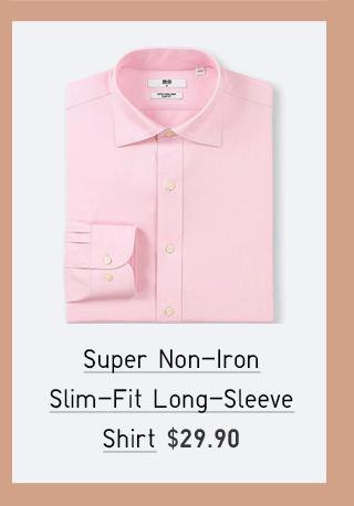 SUPER NON-IRON SLIM-FIT LONG-SLEEVE SHIRT $29.90
