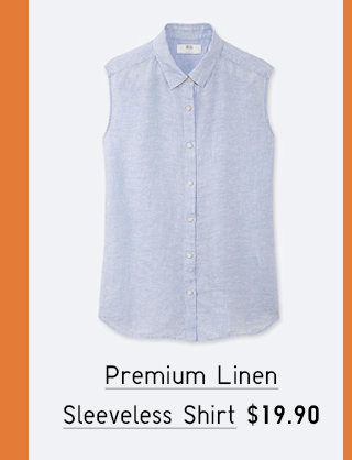 PREMIUM LINEN SLEEVELESS SHIRT $19.90
