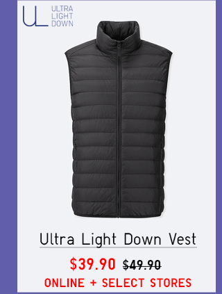 ULTRA LIGHT DOWN VEST $39.90