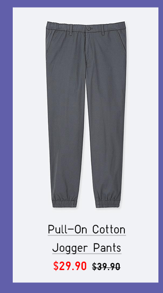 PULL-ON COTTON JOGGER PANTS $29.90