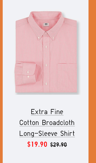 EXTRA FINE COTTON BROADCLOTH LONG-SLEEVE SHIRT $19.90