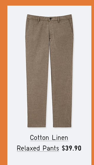 COTTON LINEN RELAXED PANTS $39.90