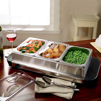 2-in-1 Table Top Food Warmer and Hotplate