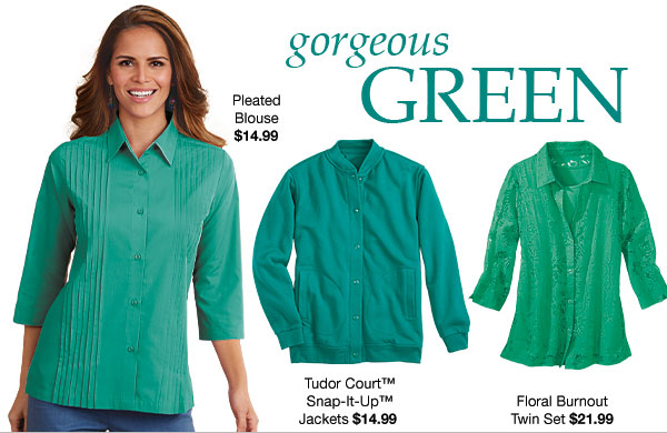 Shop Gorgeous Green!