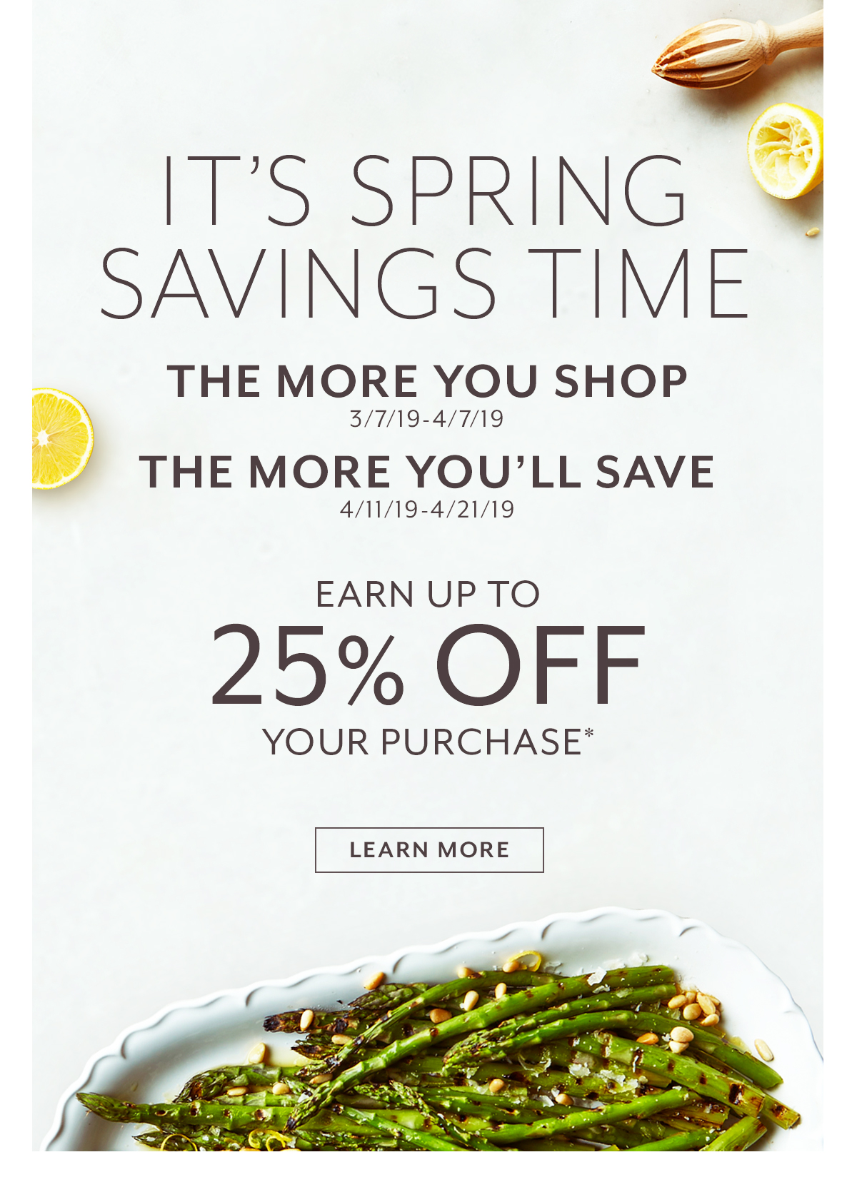It's Spring Savings Time