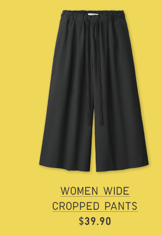WOMEN WIDE CROPPED PANTS $39.90