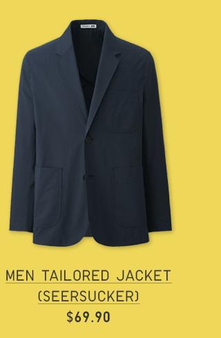 MEN TAILORED JACKET (SEERSUCKER) $69.90