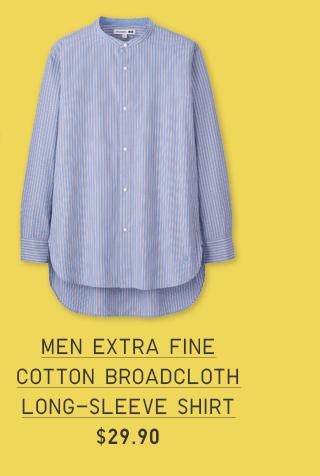 MEN EXTRA FINE COTTON BROADCLOTH LONG-SLEEVE SHIRT $29.90