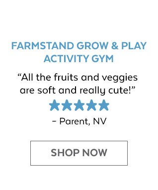 Farmstand Grow & Play Activity Gym | 'All the fruits and veggies are soft and really cute!' - Parent, NV | Shop Now