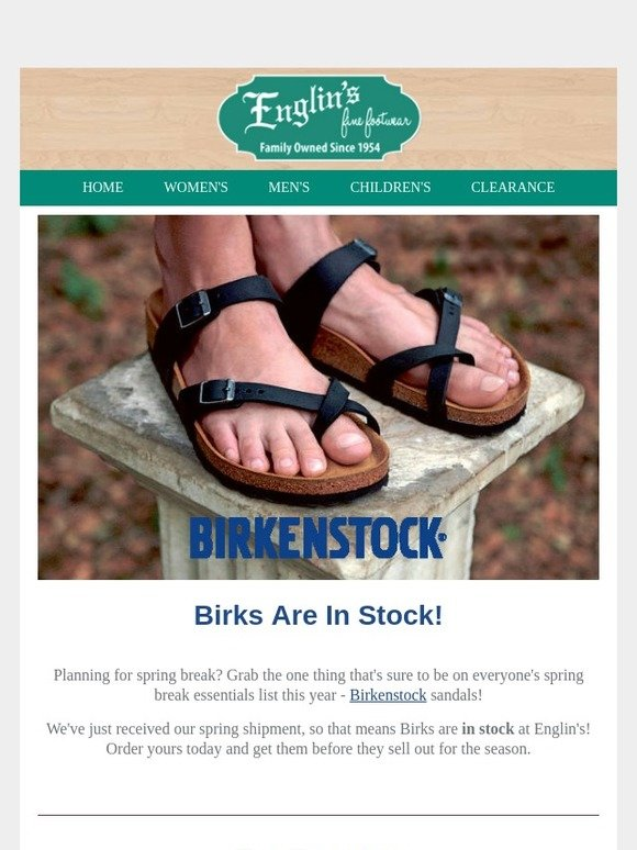 83afd0ab055 englin's fine footwear: Birks in Stock - Just In Time For Our Trunk ...