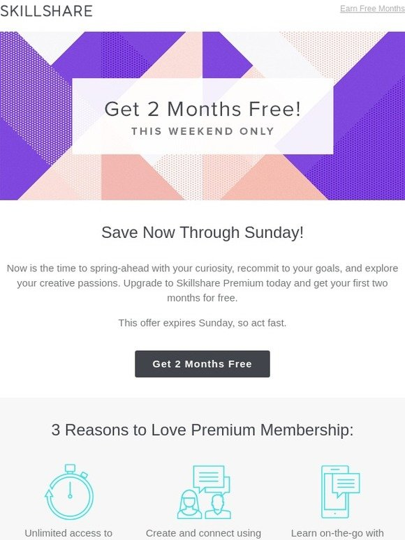 Skillshare: FLASH SALE: 2 Months Free! | Milled