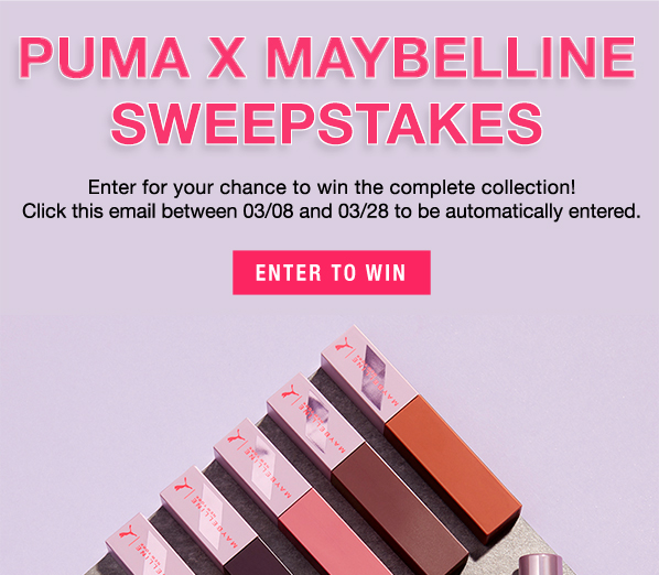 Maybelline: Enter Our PUMA Sweepstakes Today! | Milled