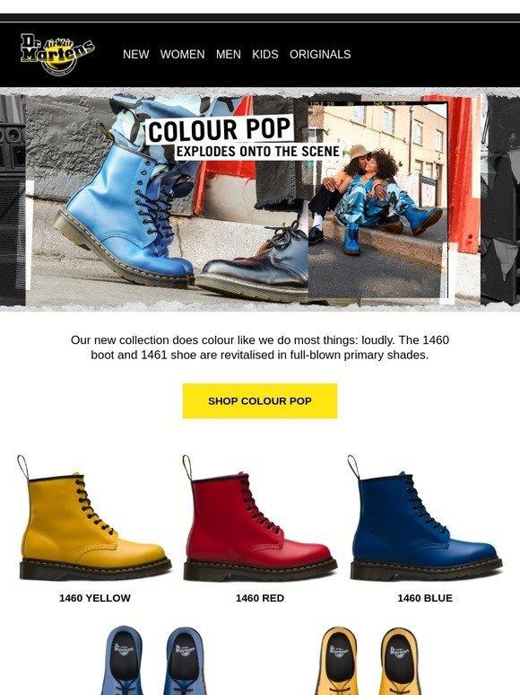 dr martens uk: Colour blowout   Milled