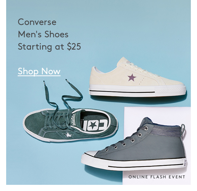 Converse Men's Shoes Starting at $25   Shop Now   Online Flash Event