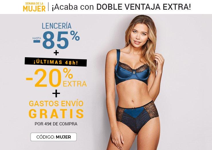 85a16555d venca  ¡Sólo este FINDE! ENVÍO gratis ✈ + 20% EXTRA en Lencería ...