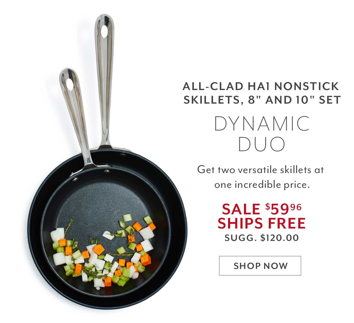 2-pc Nonstick Skillet Set