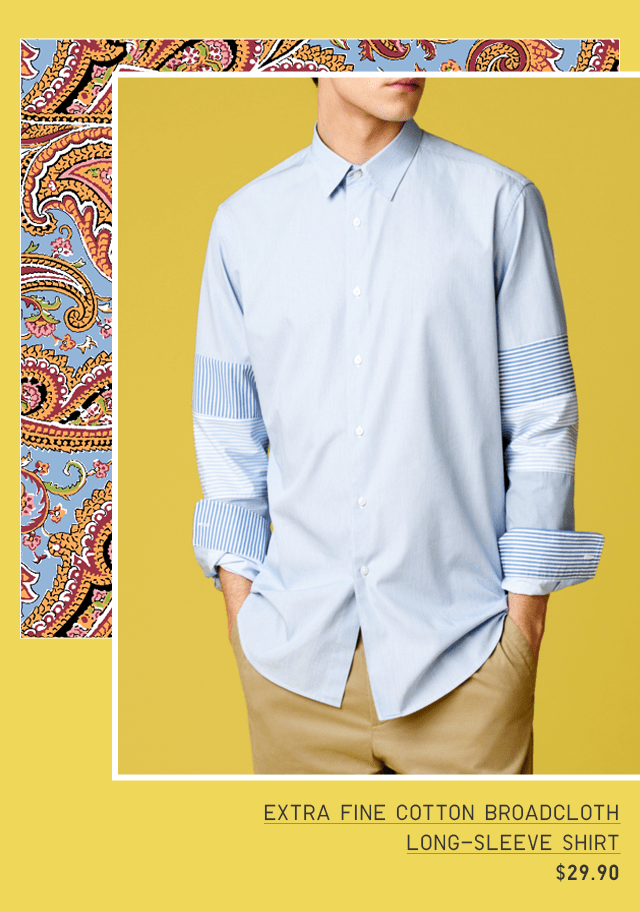 EXTRA FINE COTTON BROADCLOTH LONG-SLEEVE SHIRT $29.90
