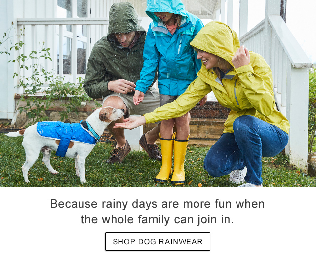 Because rainy days are more fun when the whole family can join in.