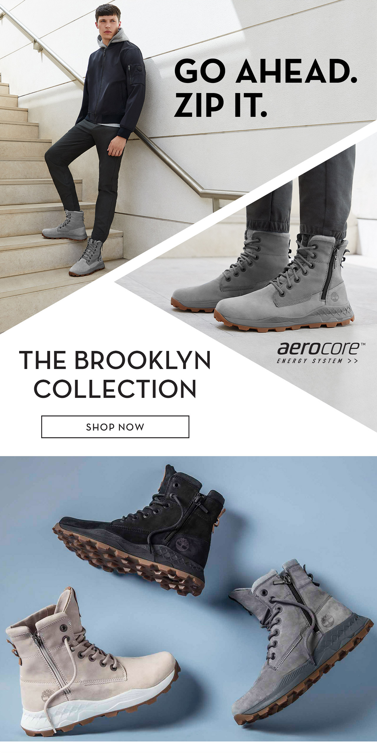 Go Ahead. Zip It. The Brooklyn Collection Shop Now