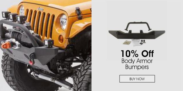 10% Off Body Armor Bumpers