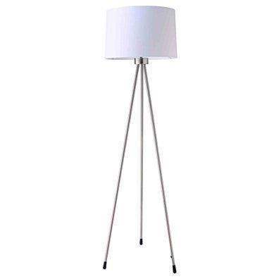 Stewart Contemporary 59-Inch Tripod Floor Lamp, White