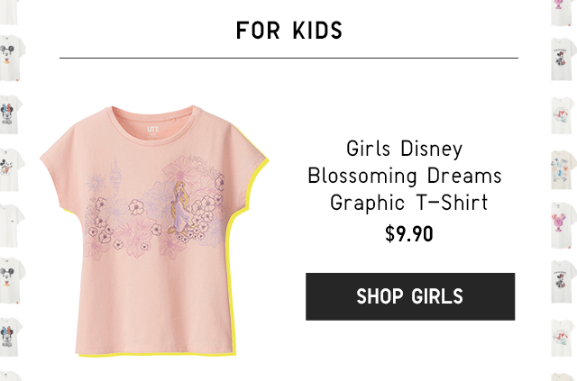 GIRLS DISNEY BLOSSOING DREAMS GRAPHIC T-HIRT $9.90 - SHOP GIRLS