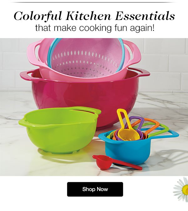 Shop our Colorful Cooking Essentials!