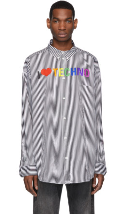 Balenciaga - Black & White 'I Love Techno' Shirt