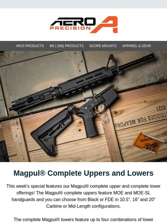 aero precision: 20% OFF Magpul Complete Uppers/Lowers THIS