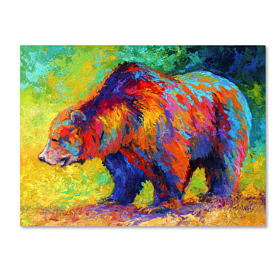 Marion Rose 'New Grizz' Ready to Hang Canvas Art 24 x 32 Inches Made in USA