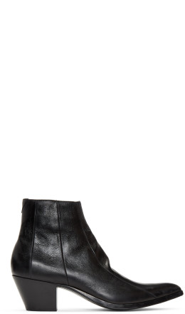 Saint Laurent - Black Finn Boots