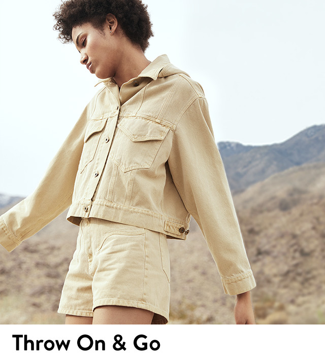Throw on and go: women's lightweight jackets.
