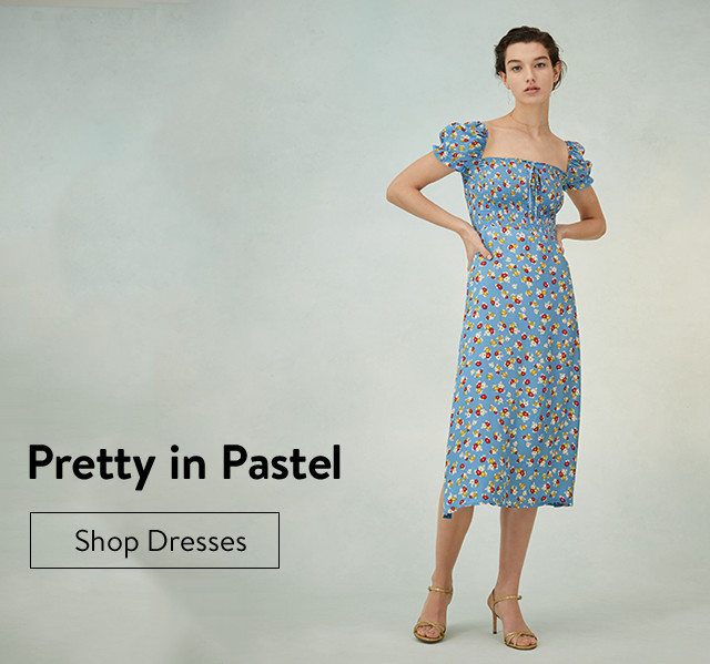 Pretty in pastel: women's dresses.