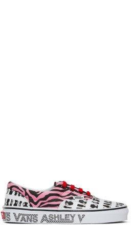Ashley Williams - Pink & White Vans Edition Era Sneakers