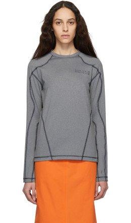 GmbH - Grey Recycled Mono Long Sleeve T-Shirt