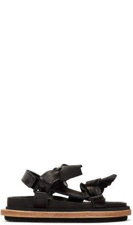 Sacai - Black Bow Tie Sandals