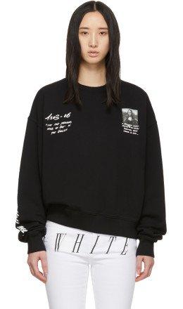 Off-White - Black Monalisa Sweatshirt
