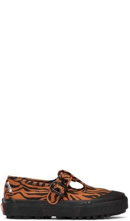 Ashley Williams - Orange & Black Vans Edition Style 93 Sneakers