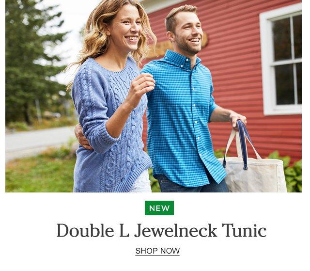 NEW. Double L Jewelneck Tunic.