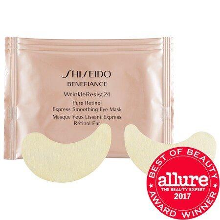 Shiseido : Benefiance WrinkleResist24 Pure Retinol Express Smoothing Eye Mask : Eye Masks