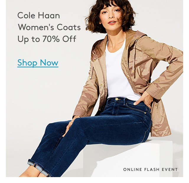 Cole Haan Women's Coats Up to 70% Off | Shop Now | Online Flash Event