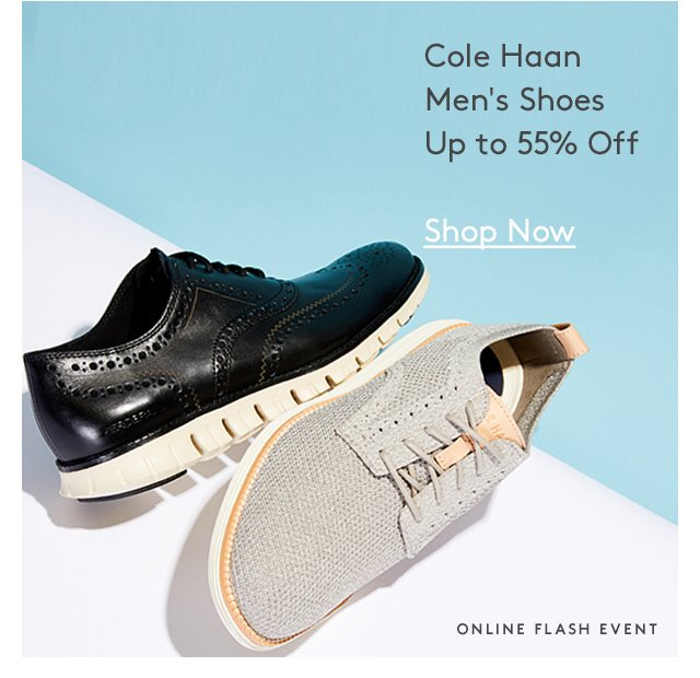 Cole Haan Men's Shoes Up to 55% Off | Shop Now | Online Flash Event